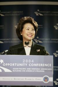 조소란(趙小蘭, Elaine Chao) : 미국 노동부장관, 중국계 최초의...