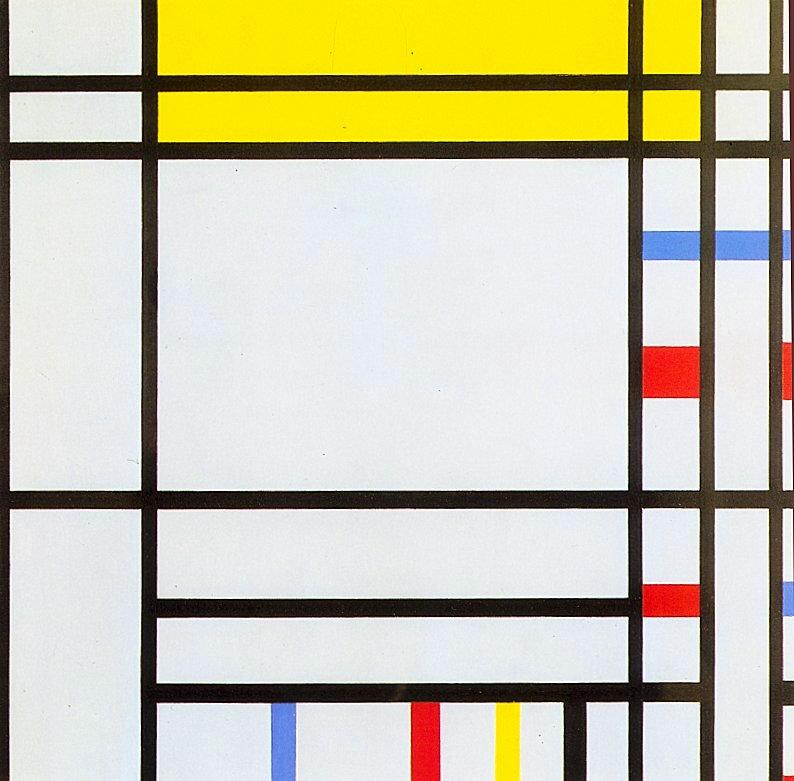 뉴욕 현대미술관에서 몬드리안의 추상화를 감상했습니다.