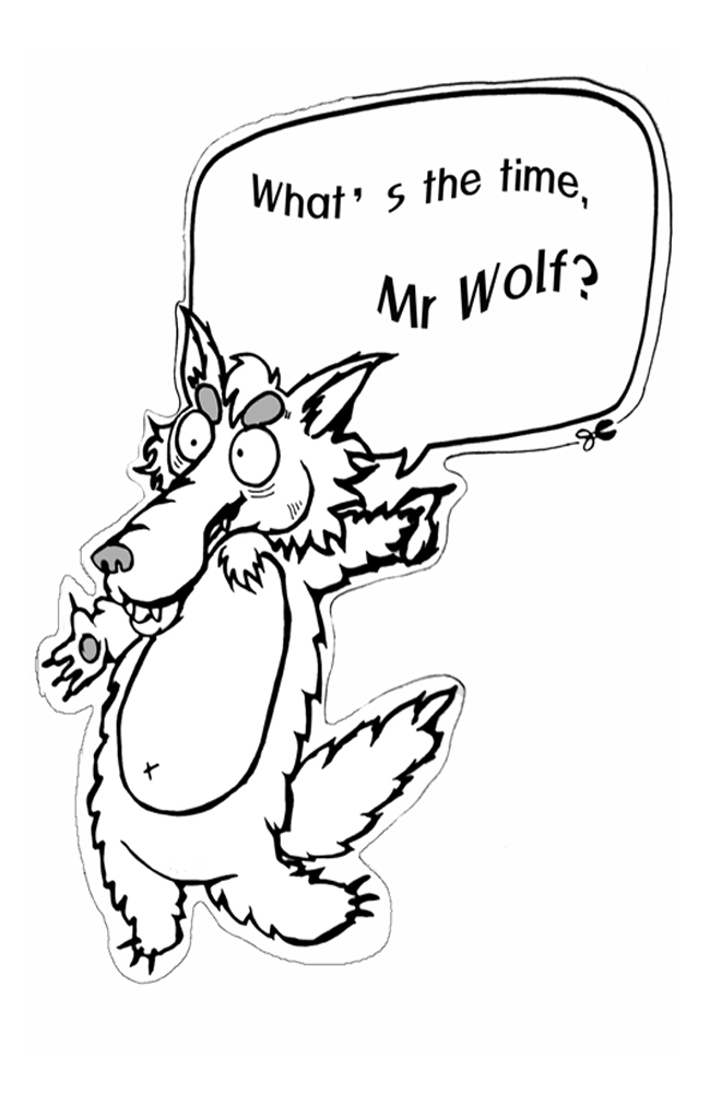 what time is it mr wolf worksheets